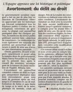 Avortement-du Délit au droit_La Voix du Luxembourg_15052009
