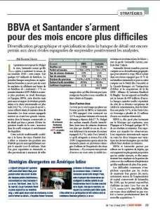 BBVA_Santander_L'Agefi Hebdo_Mai 2009