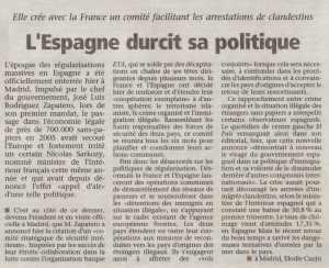 L'Espagne durcit sa politique_La Voix du Luxembourg_29042009