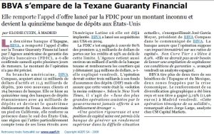 BBVA_GUARANTY FINANCIAL_24août 2009