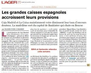 Caisses espagnoles_3T_L'Agefi_Octobre 2009
