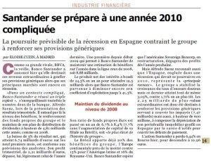 Santander_3T 2009_L'Agefi_Octobre 2009